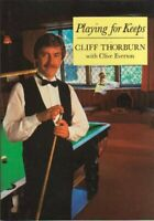 Playing for Keeps by Cliff Thorburn Hardback Book The Fast Free Shipping