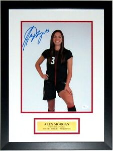 ALEX MORGAN AUTOGRAPHED 2019 USA WORLD CUP 11X14 PHOTO JSA FRAMED PLATE AUTO