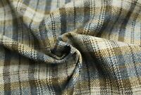 100% Pure New Wool Shetland Tweed Plaid Fabric   CZ14