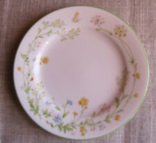 """NORITAKE IVORY CHINA REVERIE 7191 Wildflowers & Butterfly Bread Plate   6 1/2 """""""