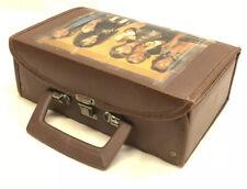 12 Cassette Tape Holder Carry Case Storage Vintage Faux Leather