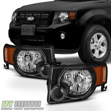 Balck 2008-2012 Ford Escape SUV [Factory Style] Headlights Headlamps Left+Right