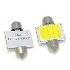 2pcs White 31mm 12smd COB LED DE3175 Bulbs For Car Interior Dome Map Lights E7