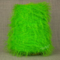 SOFT DOUBLE KNITTING FEATHER YARN LIME GREEN 500g CONE 10 BALLS GLITTER SCARF DK
