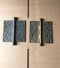 Set Of Two Antique Victorian Door Hinges 4 1/2