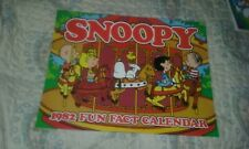 SNOOPY 1982, 10 x 12, FUN FACT CALENDAR, Unused, NM Condition Peanuts NOS 6 pcs
