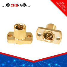 T8 H Flange Copper Nut For T8 Lead Screw 8mm Trapezoidal Screw 3D Printer Parts