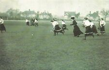 Nostalgia Postcard 1910 Womens Hockey, West Herts v Bishops Stortford Repro NS17