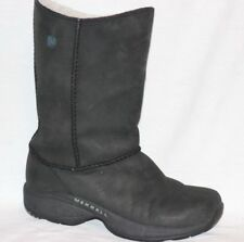 Merrell Primo Stitch Black Nubuck Sheepskin Snow Winter Mid Calf Boots 7