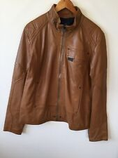 G-star MFD Leather Jacket (XL) Caramel Brown Buttery Lambskin Bomber Hardly Worn