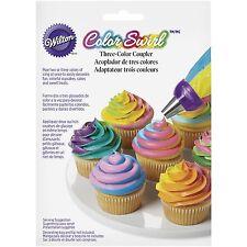 Acoplador Wilton Color Remolino Punta Boquilla Decoración de pasteles Cupcakes Glaseado decorador