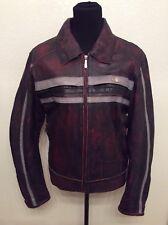 Excellent!! Heine Gericke Women's Moto/Biker Black/Red Leather Jacket Sz 14