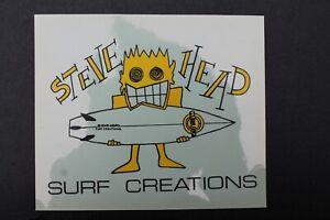 Steve Head Surf Creations Surfboards Clear Stussy V32B Vintage Surfing STICKER