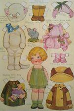 1924 Dolly Dingle Pretty Little Friend Teedie Cat Costume Vtg Uncut Paper Doll