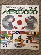 PANINI  MEXICO 86 World Cup  -  Almost Empty Sticker Album  -  VG + Condition