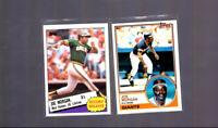 1983 and 1985 Topps Joe Morgan San Francisco Giants Oakland A's HOF Card lot