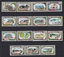 ANGUILLA 1970 DEFINITIVE SET NEVER HINGED MINT