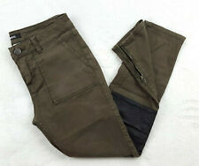 BDG Womens Size 26 Cropped Jeans Zipper Ankle Olive, Low Rise - Inseam 24