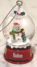 Personalized Snow Globe Ornament - Robin - FREE Shipping