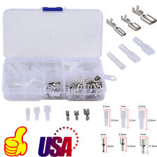 120Pcs Wire Female spade Terminals Connectors Insulating sleeve Set 2.8mm -6.3mm