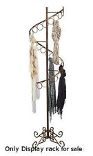 Boutique Cobblestone Spiral Scarf Display Rack with 3 Inch D 27 Scarf rings
