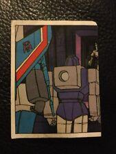 G1 TRANSFORMERS Panini 80'S 1986 Rare unused Sticker # 188