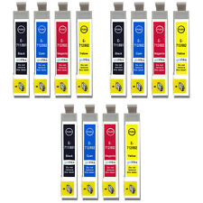 12 Ink Cartridges (Set) for Epson Stylus SX515W SX600FW & Office BX300F BX310FN