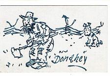 Cleveland Plain Dealer CARTOONIST JAMES DONAHEY 1945 AUTOGRAPH LETTER & DRAWING