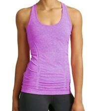 Athleta Woman Small Fast Track Sleeveless Racerback Tank Top Ruched Front Purple