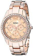 XOXO Womens Rose Gold-Tone Bracelet Watch