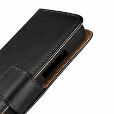 Black Genuine Leather Wallet Card Money Case Cover Stand For Nokia Lumia 630/635