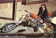 Dave David Mann Biker Art Motorcycle Poster Print Easyriders Busted Police Cop