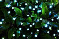 150  WHITE SOLAR POWERED OUTDOOR LED STRING ROPE LIGHTS 3 FUNCTION LIGHTING
