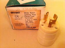 *NEW* Bryant 70615-NP 15 A 250v 2 Pole 3 Wire NEMA L6-15P Twist-Lock Connector