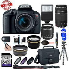 Canon EOS Rebel T7i DSLR Camera|18-55mm IS STM & 75-300mm III Lens| Bundle