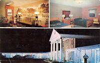 Richland Georgia~Kay-Lyn Kourt~Night Lights Motel~Room~Black Bell Hop~1950s Cars