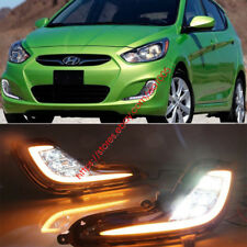 LED DRL for Hyundai Accent 2012-2015 Daytime Running Light With Turn Signal Lamp