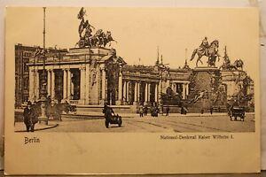 Germany Berlin National Monument Kaiser Wilhelm I Postcard Old Vintage Card View