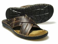 Red Tape Men's Lew Brown Leather Sandals UK 11