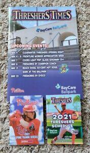 2021 Clearwater Threshers MLB Philadelphia Phillies Program Yearbook RC Baseball