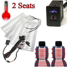 4x Car Carbon Fiber Heated Cushion Seat Heater Pad 2 Dial 5 Level Switch Kit 12V