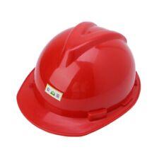 New Plastic Construction Worker Hard Hat Outdoor Work Safety Helmet Red