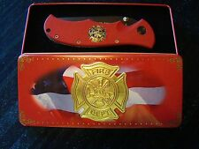 Smith & Wesson - Salutes America's Heroes - Fire Department - Knife - Tin Box
