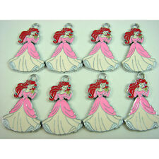 Nouveau 8 pcs Disney Princesse Ariel Jewelry Making Metal Figure Charms pendentif + cadeau