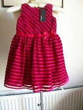 Autograph Double-Lined Sleeveless Red Velvet Dress, Age 2-3 Years, M&S, BNWT