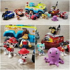 Paw Patrol Rescue Toy Lot with Vehicles and Figures - Pirate Ship, Police, Fire