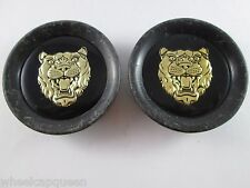 "JAGUAR  USED!!!! BLK/GOLD POP IN CUSTOM WHEEL CENTER CAP*   #NO ID#   2"" (FOR 2)"