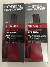 2 X 15ml L'oreal Men Expert Vita Lift Anti Ageing Eye Cream