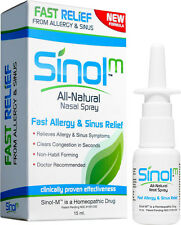 Sinol Homeopathic Nasal Spray - Fast Allergy and Sinus Congestion Relief 15ml