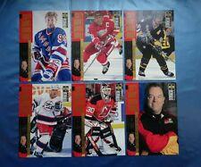 6 cards SCOTTY BOWMAN'S UpperDeck NHL'96 GRETZKY, TKACHUK, JAGR, YZERMAN BRODEUR